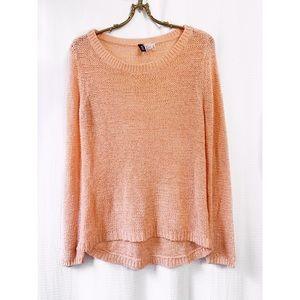 🌸2/$30 H&M blush peach pullover sweater